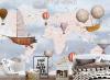 Biến hóa sự đơn điệu trong phòng bé với decal dán tường hình bản đồ