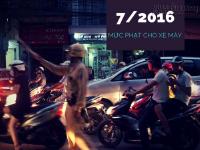 Mức phạt lỗi xe máy mới nhất từ 07/2016
