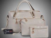 Mẫu bộ 3 túi xách màu trắng - Xưởng may túi xách chuyên sỉ tại TPHCM