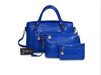 Mẫu bộ 3 túi xách màu xanh Navi - Xưởng may túi xách thời trang tại TPHCM