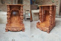 Mẫu bàn thờ Ông Địa, Thần Tài gỗ đẹp