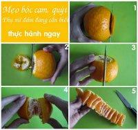 Cách bóc cam nhanh - Phụ nữ đảm đang cần biết - Thực hành ngay