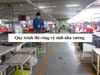 Quy trình thi công việc vệ sinh sàn nhà xưởng