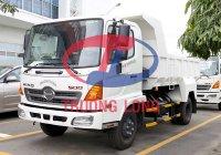 Xe Ben Hino 6 tấn bửng liền - Hệ thống ben Shinmaywa - thùng 4 khối 8 - tổng tải 11 tấn