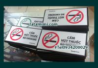 Biển no smoking – biển hiệu văn phòng