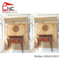 Thiết kế nội thất phòng khách có bàn thờ hiện đại
