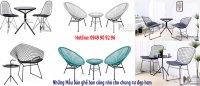 Những mẫu bàn ghế ban công nhỏ cho chung cư đẹp hiện đại HCM