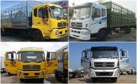 So sánh xe tải thùng Dongfeng B170 Hoàng Huy và xe tải Dongfeng Trường Giang 9.6 tấn