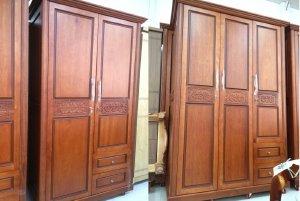 Mẫu tủ quần áo gỗ tự nhiên đẹp hiện đại không bị lỗi mốt