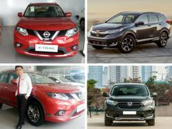 So sánh xe Nissan X-Trail 2018 và Honda CR-V 2018