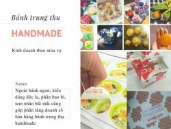 Bí quyết kinh doanh bánh trung thu handmade
