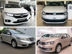 So sánh xe Volkswagen Polo Sedan và Honda City
