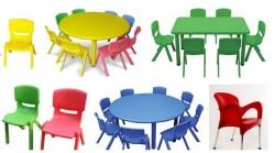 Chọn mua bàn ghế nhựa đúc cho bé