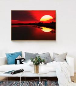 Mở rộng không gian phòng nhờ tranh phong cảnh treo tường