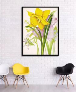 Trang trí tranh hoa treo tường cho phòng khách đẹp hoàn hảo