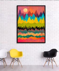 Biến hóa đầy nghệ thuật với tranh treo tường phòng khách đẹp hiện đại