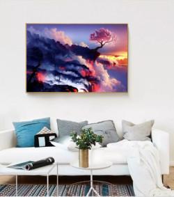 Tràn đầy sức sống với tranh treo tường trang trí phòng khách