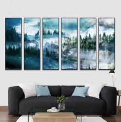 Nghệ thuật kết hợp tranh đồng hồ treo tường