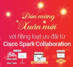Khuyến mãi khủng cho thiết bị hội nghị truyền hình Cisco Spark Room