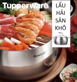 Cách nấu lẩu hải sản khô ngày tết với nồi Chef Series Casserole nắp kính