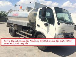 Thông số kỹ thuật xe tải Hino chở xăng dầu 7 khối