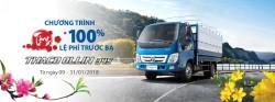 Tặng 100% phí trước bạ khi mua xe Thaco Ollin 345 tại Showroom An Lạc
