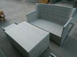 Mẫu bàn ghế nhựa giả mây sân vườn đẹp