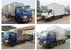 Mua xe tải thùng kín - so sánh xe tải Kia và xe tải Hyundai