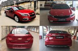 So sánh Chevrolet Cruze 2018 và Kia Cerato 2018