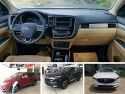 So sánh giá Mitsubishi Outlander, Mazda CX 5 và Honda CR V