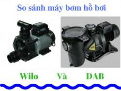 So sánh máy bơm hồ bơi Euroswim và Wilo