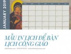 Mẫu in lịch để bàn Công giáo - In lịch Công giáo TPHCM