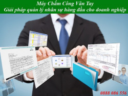 Lắp máy chấm công vân tay tại quận Tân Phú TP.HCM