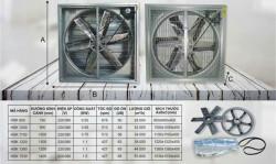 Quạt thông gió vuông 900x900x400 - Quạt thông gió tại Bình Dương