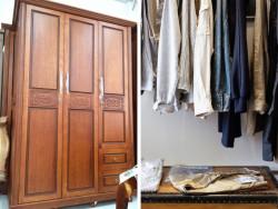 Mẫu tủ quần áo 3 buồng gỗ tự nhiên đẹp
