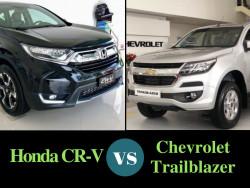 So sánh giá xe 7 chỗ Chevrolet Trailblazer và Honda CR-V 7 chỗ