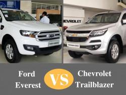 So sánh giá, vận hành, an toàn Chevrolet Trailblazer và Ford Everest