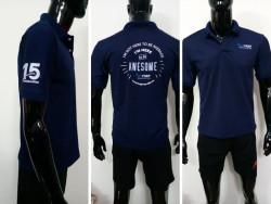 Mẫu áo thun cá sấu màu xanh - Xưởng nhận đặt may áo thun số lượng từ 20 áo/mẫu