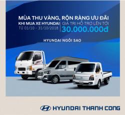 Khuyến mãi tháng 10 hấp dẫn và giá trị lên đến 30.000.000Đ tại Hyundai Ngôi Sao