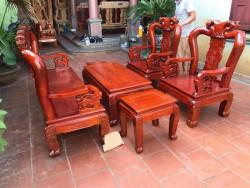 Mẫu bàn ghế phòng khách Minh Quốc Đào gỗ xoan ta