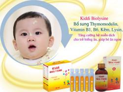 Sự phối hợp thymomodulin, L-Lysine, kẽm và vitamin nhóm B giúp gì cho bé ?
