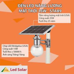Đèn led năng lượng mặt trời STA89-15W