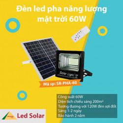 Đèn năng lượng mặt trời SR-PHA-60W: Chọn giá cả hay giá trị?