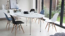Ghế nhựa cafe chân gỗ cao cấp, chất lượng làm không gian thêm sang trọng