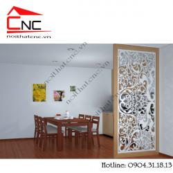 Thiết kế vách ngăn phòng khách và bếp chung đảm bảo tính thẩm mỹ