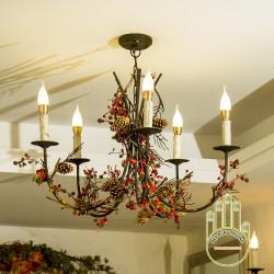 Đèn chùm cổ điển Châu Âu trang trí nhà hàng, khách sạn đẳng cấp và sang trọng