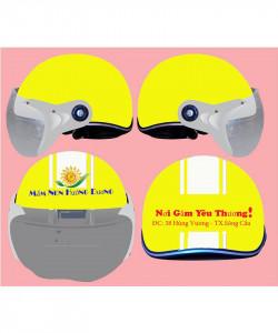 Mũ bảo hiểm in  logo công ty, in logo mũ bảo hiểm rẻ nhất Thành Phố Hồ Chí Minh