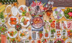 Buffet Nướng Hải Sản  Lẩu HCM Nhà hàng Saigon Marvel Hostel giá rẻ