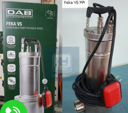 Giới thiệu máy bơm chìm hút nước thải rắn 10 mm công suất 1.6HP - FEKA VS 1200 M-A