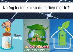 Lợi ích khi sử dụng điện năng lượng mặt trời